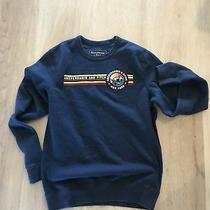 Abercrombie & Fitch Mens Crewneck Navy Sweater Small S Sweatshirt Long Sleeve Photo