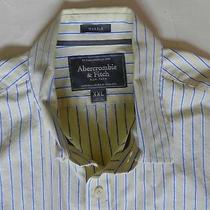 Abercrombie & Fitchmuscleyellow W/ Blue Stripes Button Down Shirt Sz Xxlln Photo