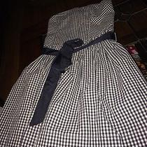 Abercrombie & Fitch Navy Blue White Plaid  Belted Fiona Dress Medium Photo
