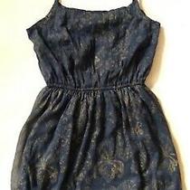 Abercrombie & Fitch New York Genuine Corset Mini Dress Fluid Blue Gold Tunic S Photo