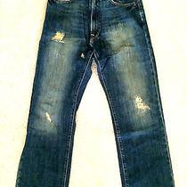 Abercrombie & Fitch Original 5 Pocket Jeans 28x30 Dark Stonewashed Ripped Mint Photo
