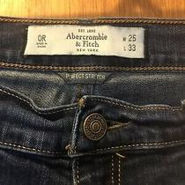 Abercrombie & Fitch Perfect Stretch Jeans Size 0 R ... Photo