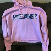 Abercrombie & Fitch Pink Hoodie Crop Sweatshirt Size Xl Photo