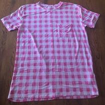 Abercrombie & Fitch Pink & White Short Sleeve Pocket Shirt Oversized Xs Euc Photo