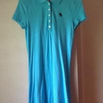 Abercrombie & Fitch Polo Dress Medium M Aqua  Photo