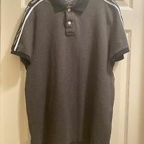 Abercrombie & Fitch Polo Shirt Top Mens  Xl Gray Black  Cream Logo Photo