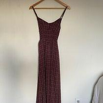 Abercrombie & Fitch Red/navy Floral Chiffon Dress Xs Photo