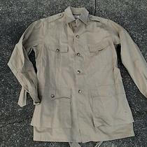 Abercrombie & Fitch Safari Jacket Coat Hunting Belt Mens Size 40 Long Beige Photo
