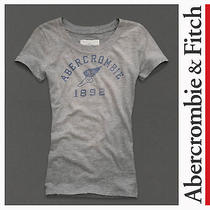 Abercrombie & Fitch Shannon Small T-Shirt Gray S Tee a&f 100% Cotton Basic Tee Photo