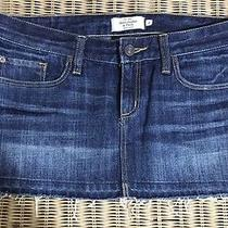 abercrombie&fitch Size 2 Jeans Skirt Denim Exc 100%Cotton Jean S Photo