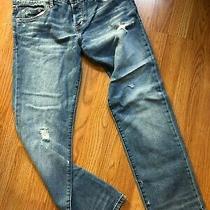 Abercrombie & Fitch Slim Boyfriend Distressed Denim Jeans Sz 0 Photo