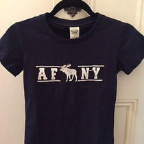 Abercrombie & Fitch Slim Navy Tee Top With Embroidery - Size S New With Tags Photo