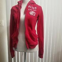 Abercrombie & Fitch Women 92 Hoodie Sweatshirt Red Xsmall Euc Photo