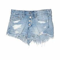 Abercrombie & Fitch Women Blue Denim Shorts 2 Photo