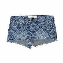 Abercrombie & Fitch Women Blue Denim Shorts 26w Photo