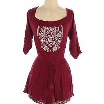 Abercrombie & Fitch Women Red Romper S Photo