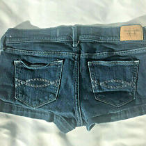 Abercrombie & Fitch Women's Blue Denim Jeans Shorts W 26 Size 2  Photo