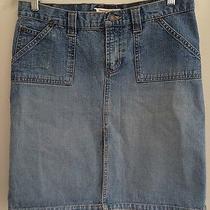 Abercrombie & Fitch Women's Denim Jean Skirt Straight Cotton Size 4 Photo