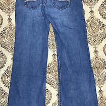 Abercrombie & Fitch Women's Designer Blue Jeans Size 0 Flare Leg Ladies Pants Photo