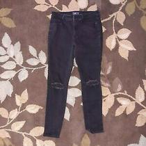 Abercrombie & Fitch Women's Harper Super Skinny Black Denim Jeans Size 28 6s Photo