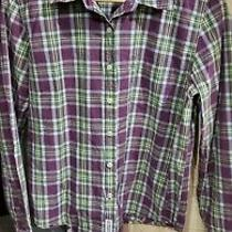 Abercrombie & Fitch Women's Purple Plaid Long Sleeve Button-Down Shirt Sz. M  Photo