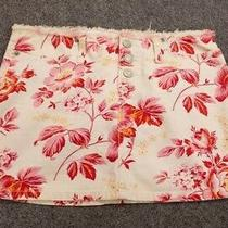 Abercrombie & Fitch Women's Short Skirt Floral White/pink Size 0 Photo