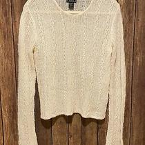 Abercrombie & Fitch Women's Size L Blush Merino Wool Blend Sweater Photo