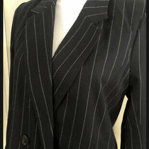 Abercrombie & Fitch Womens Size S Double Breasted Striped Navy Blazer Nwt New Photo