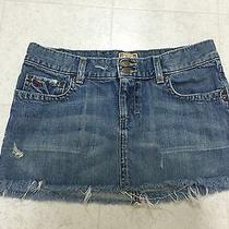 Abercrombie & Fitch Womens Blue Distressed Trendy Size 2 Jean Skirt Euc Photo
