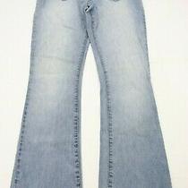 Abercrombie & Fitch Womens Bootcut Jeans Sz 4 Vintage Light Blue Denim 31