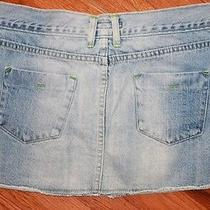 Abercrombie & Fitch Womens Frayed Light / Medium Wash Jeans Mini Skirt Denim Photo