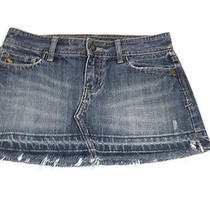 Abercrombie & Fitch Womens Hot Distressed Short Jean Skirt Size 0  Photo