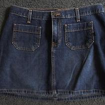 Abercrombie & Fitch Womens'  Jean Skirt Blue Size 4 Very Good Condition Photo