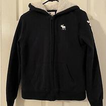 Abercrombie Gray/navy Hoodie Jacket Full Zip Unisex Size 13/14. Pre-Owned Photo