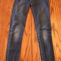 Abercrombie Kids Blue Jeans Girls Size 12 Dark Wash Stretch Euc Photo