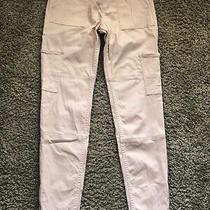 Abercrombie Kids Blush Pink Cargo Utility Pull-on Jean Leggings Size 13-14 Vguc Photo