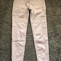 Abercrombie Kids Blush Pink Cargo Utility Pull-on Jean Leggings Size 13-14 Vguc Photo