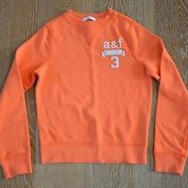 Abercrombie Kids Boys Orange Sweatshirt Size M Euc Photo
