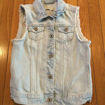 Abercrombie Kids Denim Blue Jean Button Up Sleeveless Vest Girls Size 16 Photo