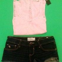 Abercrombie Kids Girl Outfit Denim Sz 14 - Blouse Sz M Photo