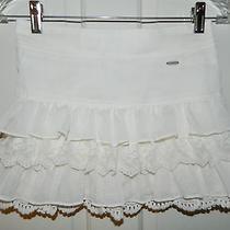 Abercrombie Kids Girls Beautiful Ivory Sheer Crochet Ruffled Skirt Xl Photo