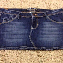 Abercrombie Kids Girls Blue Denim Mini Jeans Skirt Size 14 Photo