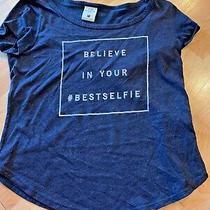 Abercrombie Kids Graphic Tee T Shirt Believe in Your Bestselfie Medium Grey Photo