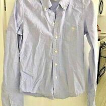 Abercrombie Kids Long Sleeve Button Down Mallory Blue Shirt Size Small  Photo