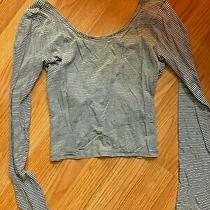 Abercrombie Kids Store Girls Navy & White Striped L/s Top Shirt Sz Xl (14) Photo