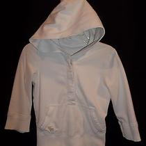 Abercrombie White Cropped Hoodie Sweatshirt Jacket Top Youth Girls Size Small Photo