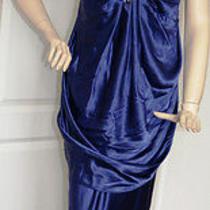 Abs by Allen Schwartz Necklace Halter Gown (Size 8) Photo