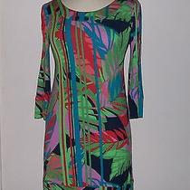 Abs by Allen Schwartz Petite Women's Tropical Tee Dress Sz (S) Nwt 206 Photo