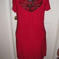 Abs  Red Dress Saks sz.m Photo