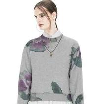 Acne Bird Print Exploded Flower Sweatshirts Pullover Photo